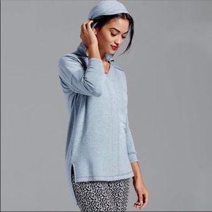 CAbi Tops - Cabi Easy Hoodie Sweatshirt Heathered Blue S